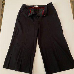 NWOT Boden black ponte cropped wide leg pant 16